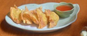 Deep-fried crab rangoon