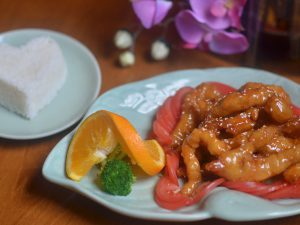 Orange Chicken and White Rice