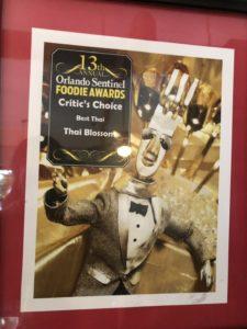 13th Foodie Awards Orlando Sentinel - Best Thai Critic's Choice