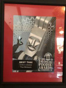 14th Foodie Awards Orlando Sentinel - Best Thai Critic's Choice