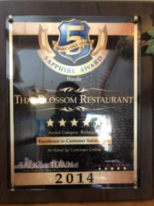 Talk of the town Florida, Excellent in Customer Satisfaction 2014