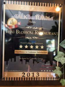 Talk of the town Florida, Excellent in Customer Satisfaction 2013