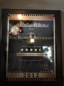 Talk of the town Florida, Excellent in Customer Satisfaction 2012