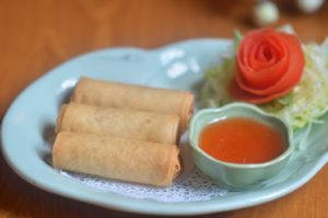 EGG ROLLS (SPRING ROLL) deep fried roll stuffed with silver noodles, mixed vegetables, and our sweet & sour dipping sauce.