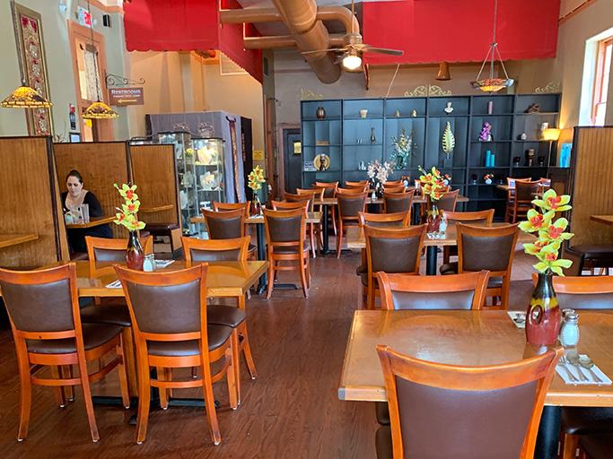 Inside Thai Blossom Restaurant, Orlando