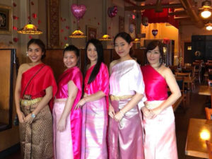 Thai Blossom Waitresses in Thai Traditional Costume